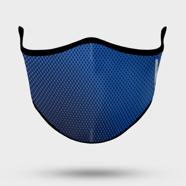 Mascarilla personalizada modelo deportivo azul