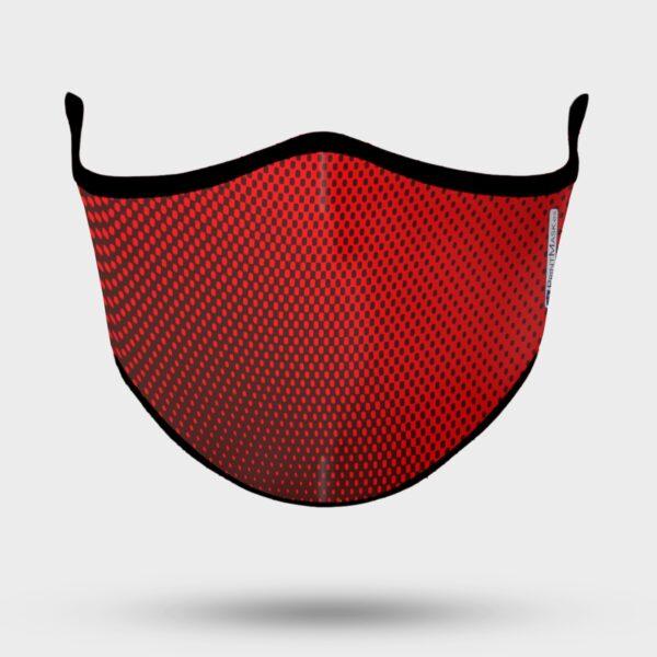 Mascarilla personalizada modelo deportivo rojo
