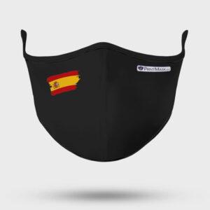 Mascarilla modelo Bandera España Negra
