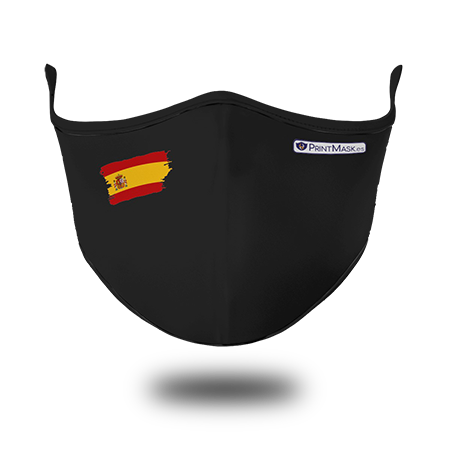 Mascarilla Negra Bandera España
