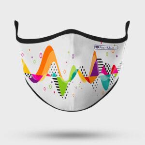 Mascarilla modelo Ondas Color